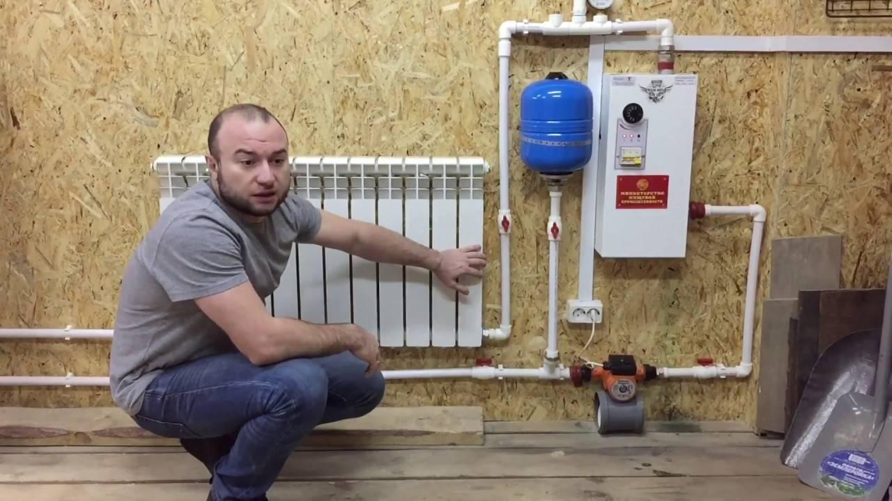 Отопление своими руками, видео, фото, монтаж и схема установки