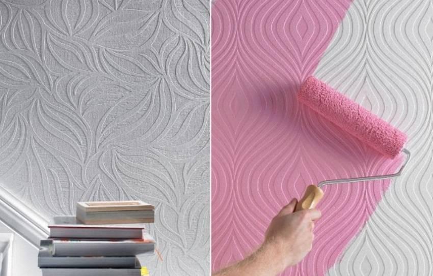 Стеклообои под покраску (63 фото): плюсы и минусы, сравнение с флизелиновыми, какие лучше выбрать, как правильно красить, отзывы