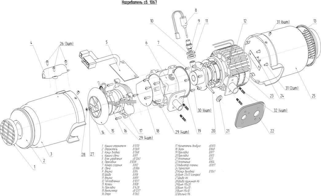 Отопитель планар - техническое устройство и инструкция по монтажу + видео
