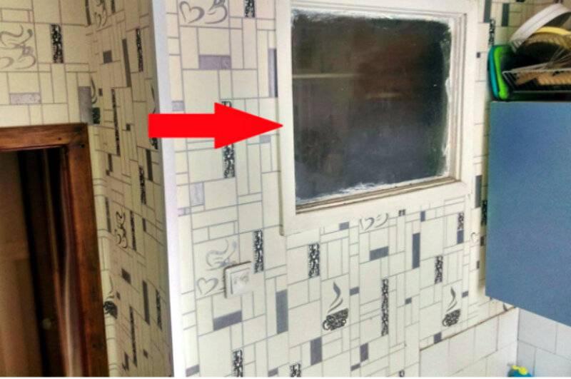 Окно между ванной и кухней в «хрущевке» (57 фото) для чего его делали раньше в старых домах? как его оформить и заделать?