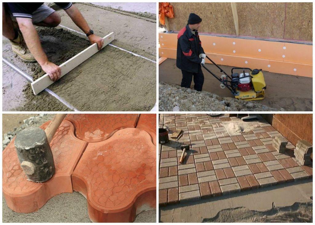 Тротуарная плитка своими руками: 105 фото пошагового изготовления и применения тротуарной плитки