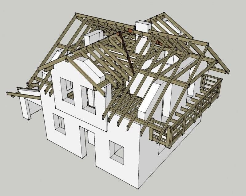 Многощипцовая крыша: как сделать надежную конструкцию