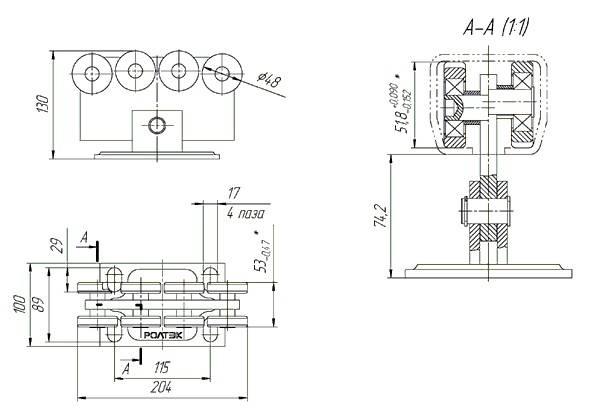 Ролики для откатных ворот: комплект направляющих моделей для раздвижных ворот, размеры и устройство опор, опорные ролики для секционных вариантов
