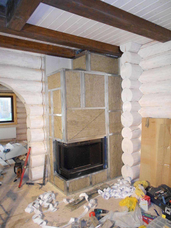 Установка камина в деревянном доме: правила, как установить металлический камин своими руками