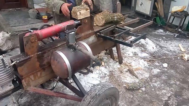 Изготовление гидравлического дровокола своими руками