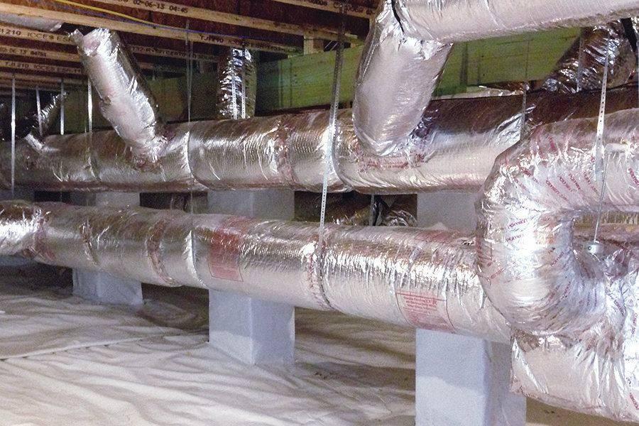 Инструкция по монтажу теплоизоляции воздуховодов
