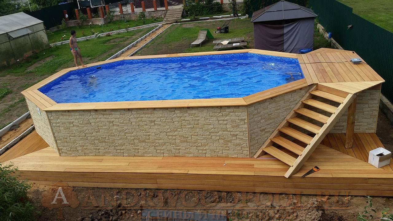 Самостоятельное строительство бассейна с деревянным каркасом