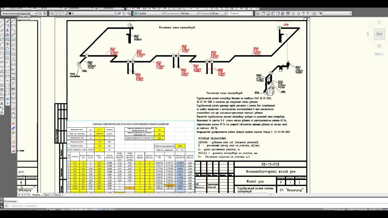Программа гидравлический расчет газопроводов низкого, среднего и высокого давлений