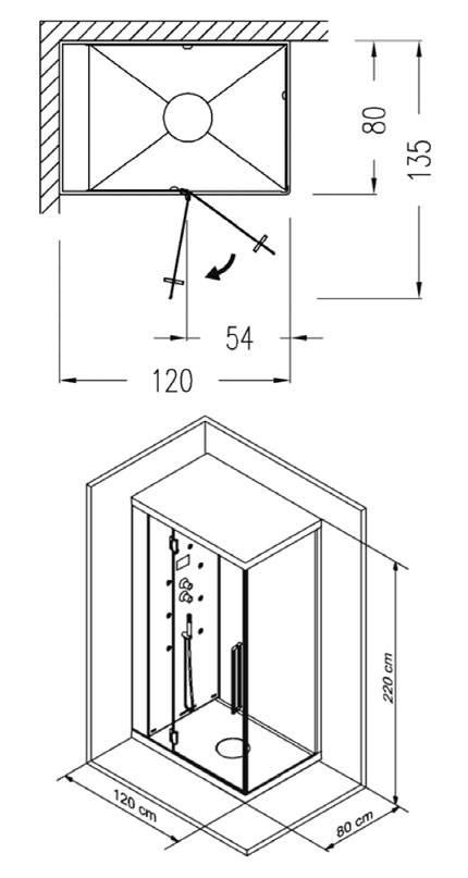 Стандартные размеры душевых кабин - обзор с фото и ценами