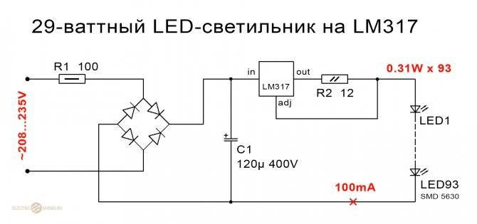 Светодиодные лампы в различных приборах автомобиля
