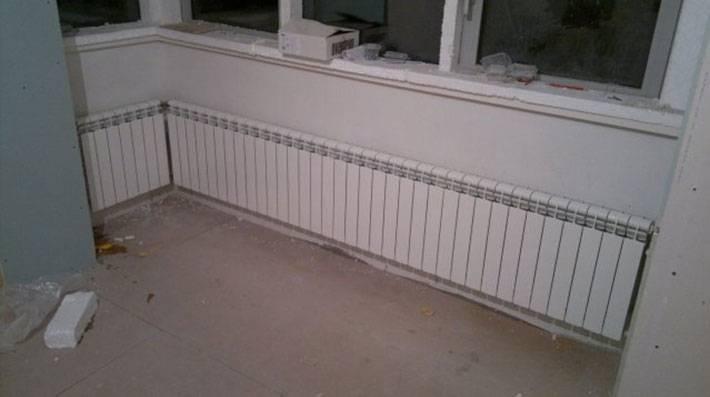 За и против батарея на балконе