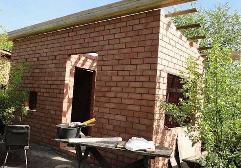 Как построить баню из кирпича — выбор проекта и материалов