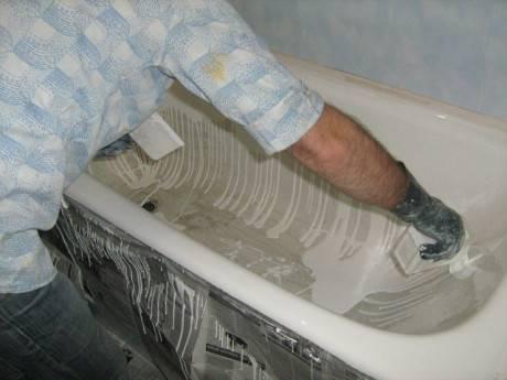 Как отреставрировать покрытие ванны
