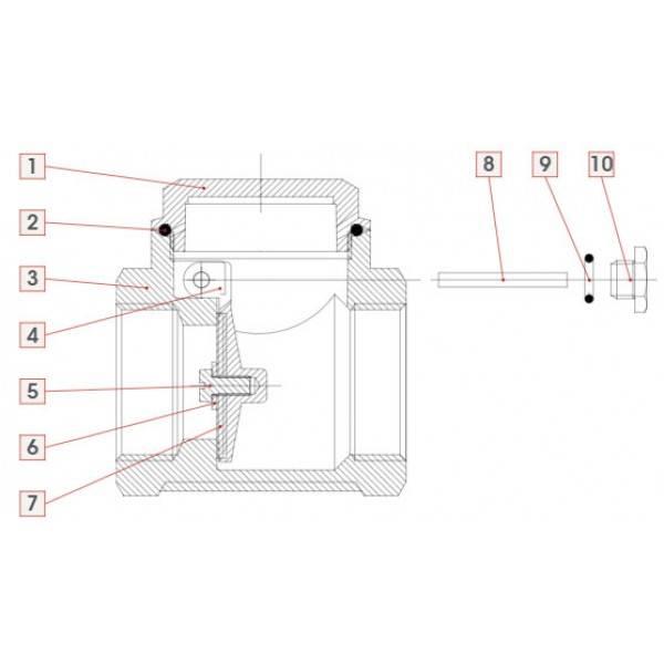 Обратный клапан для отопления: функции, обозначение, применение