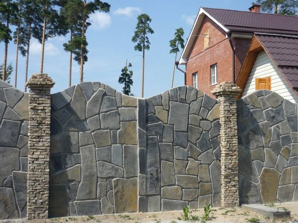 Делаем забор из камня своими руками по инструкции с фото и видео