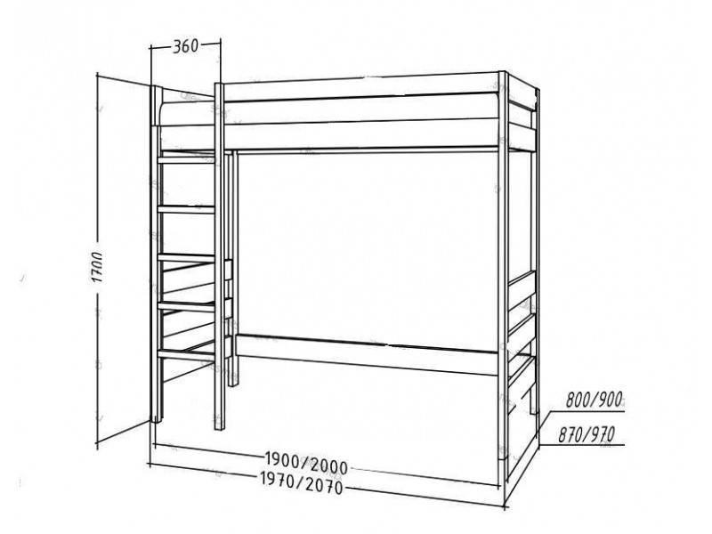Кровать-чердак своими руками: чертежи и размеры, схемы и проекты, эскизы, инструкция сборки