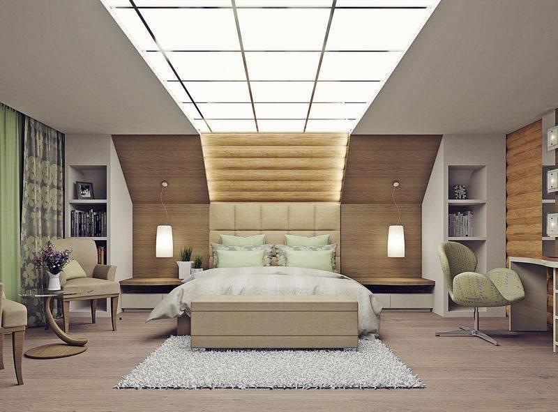 Варианты дизайна потолка на мансарде