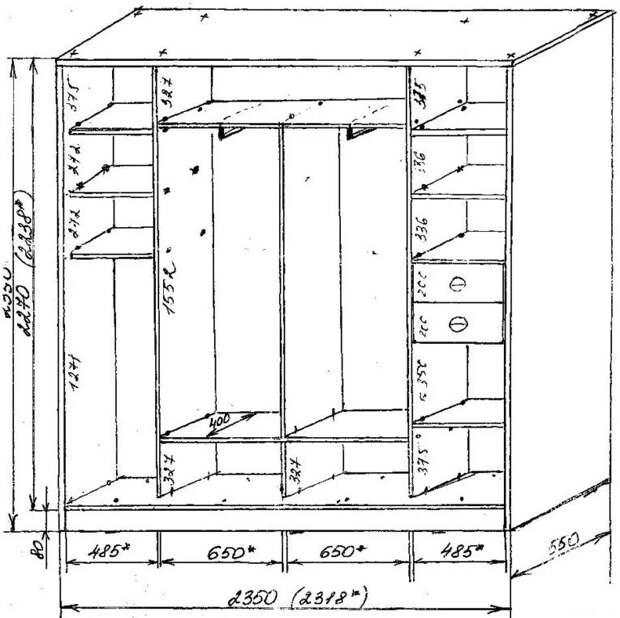 Наполнение шкафа купе (50 фото): дизайн внутри, внутренние варианты планировки для 2,5 метров с размерами