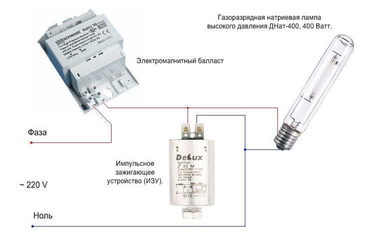 Изу для днат: что представляет собой, схема подключения, как проверить тестером для ламп мощностью 150, 250, 400