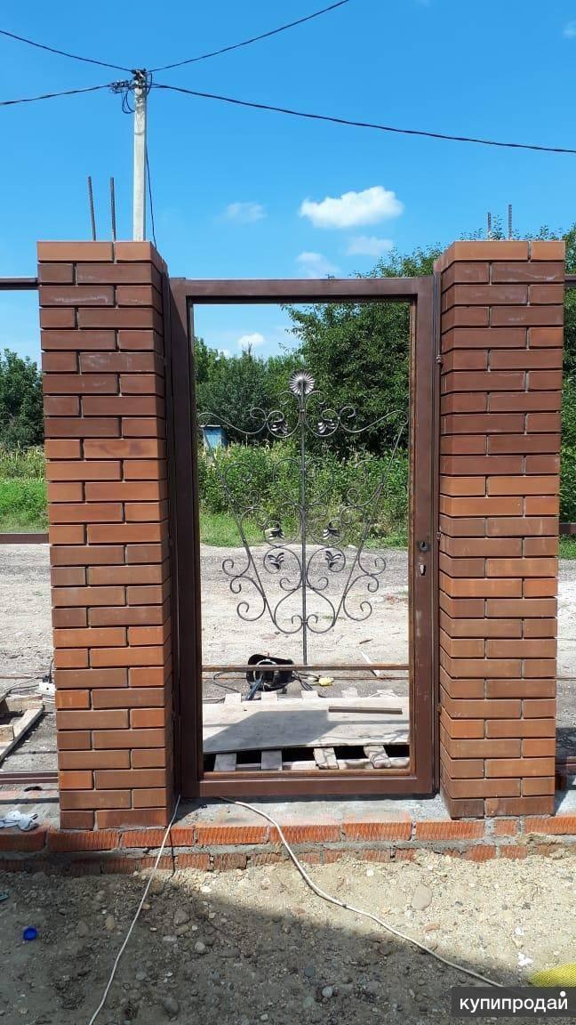 Как монтируют закладные для ворот в кирпичных столбах? — 1pokirpichu.ru