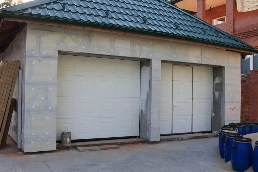 Чем обшить гараж снаружи - штукатурка, сайдинг, инструкции
