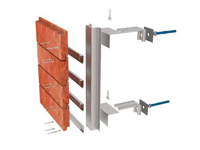 Подсистема для вентилируемого фасада: устройство и монтаж