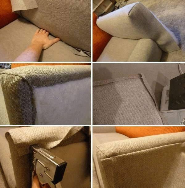 Как перетянуть диван? – фото, видео, инструкция