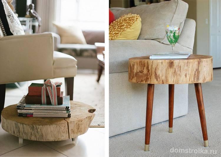 Журнальный столик своими руками - изготовление различных видов и их оформление