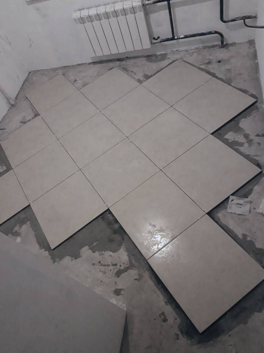 Техника укладки плитки на пол по диагонали: инструкция, правила