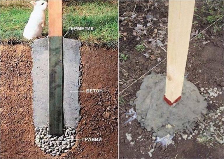 Лучше столбы забивать или бетонировать?