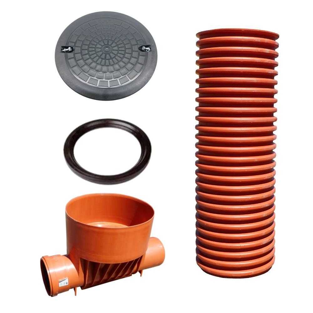 Пластиковый канализационный колодец: виды, размеры емкостей