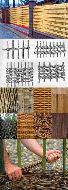 Как сделать плетеный забор из деревянных досок, ивы или лозы своими руками: фото и видео