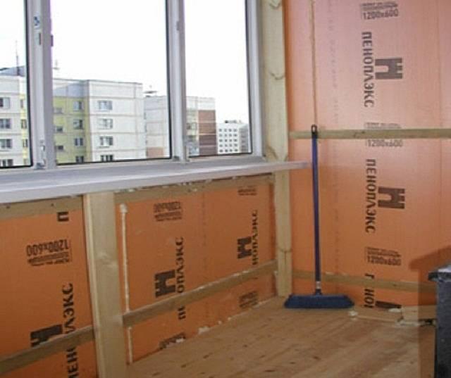 Как выполнить утепление балкона пеноплексом своими руками?