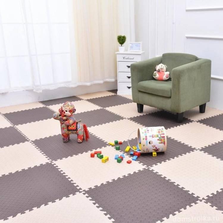 Мягкий пол для детских комнат: выбор материала и его описание, укладка