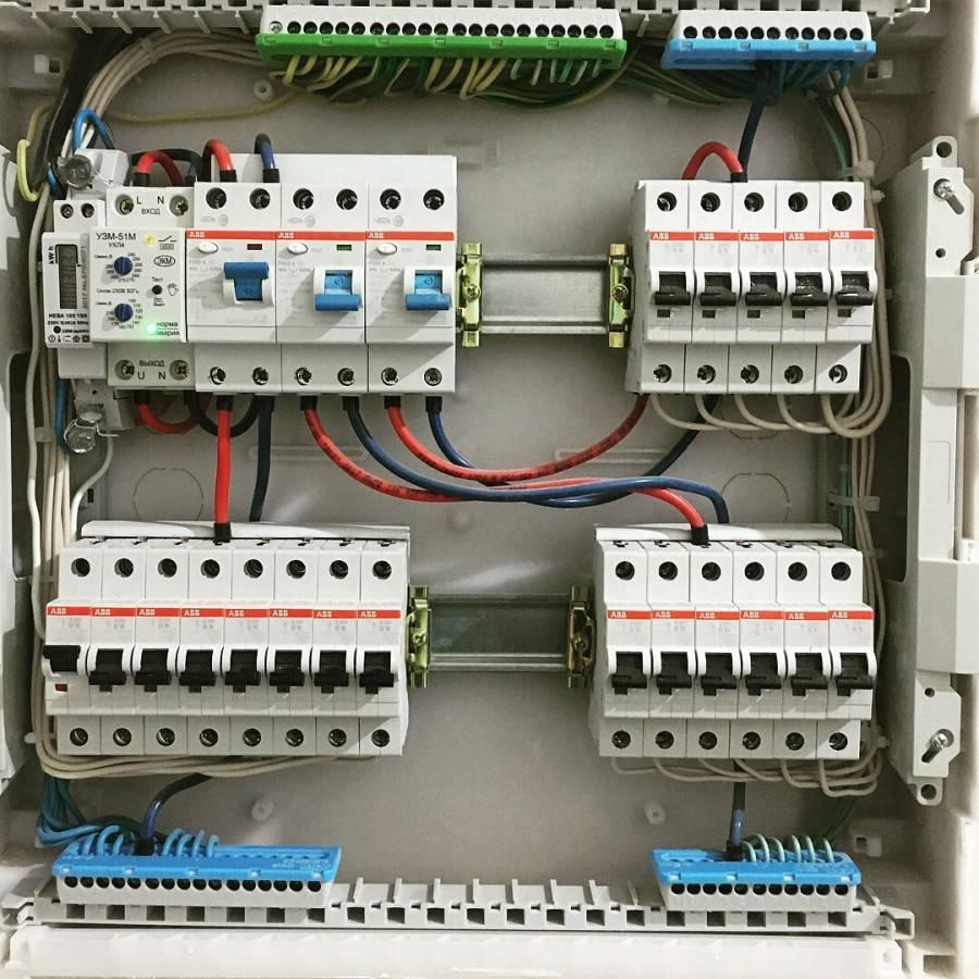 Схема электрощитка в частном доме 220в - всё о электрике в доме