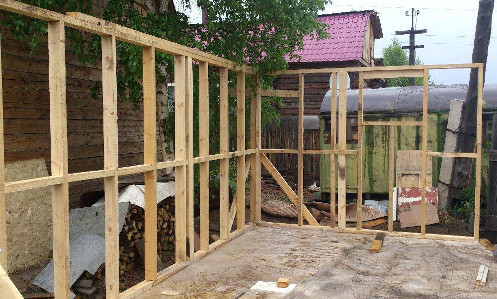 Как построить каркасно-щитовую баню своими руками