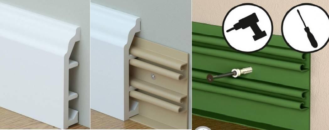 Как прикрепить плинтус к полу: обзор крепежа на клипсы, жидкие гвозди и якорные пластины