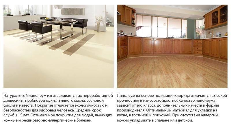 Какой линолеум лучше выбрать для кухни по типу материала, фактуре и цвету