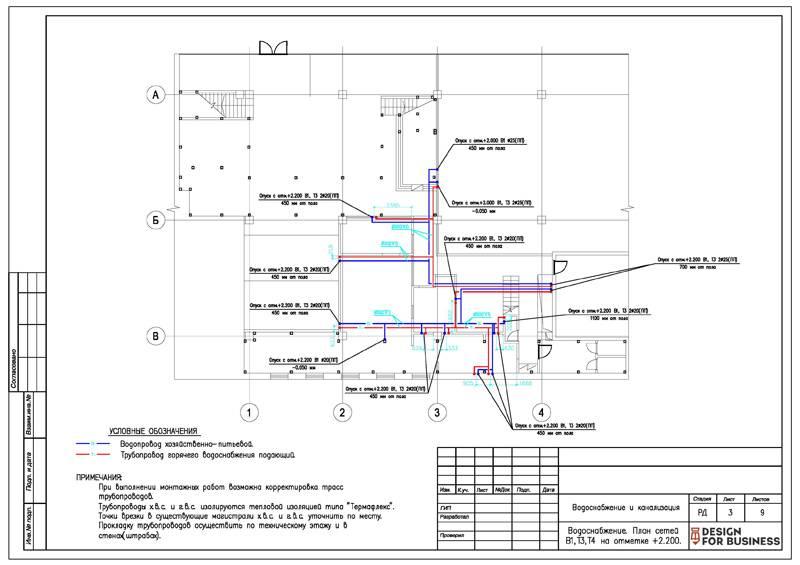 Условные обозначения водопровода и канализации на чертежах гост