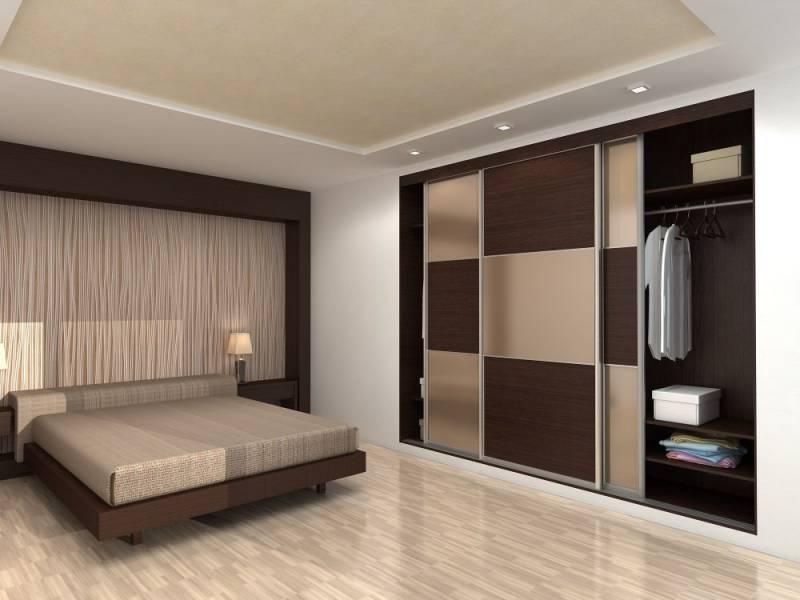 Обзор встроенных шкафов для спальни с фото, их плюсы и минусы