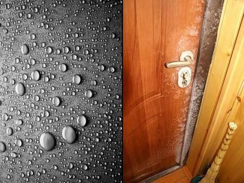 Потеет входная металлическая дверь: как избавиться от конденсата