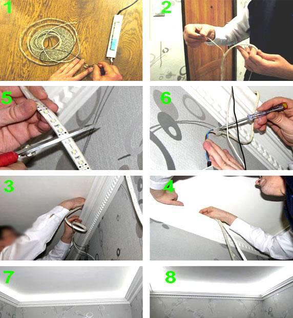 Как крепить светодиодную ленту / vantazer.ru – информационный портал о ремонте, отделке и обустройстве ванных комнат