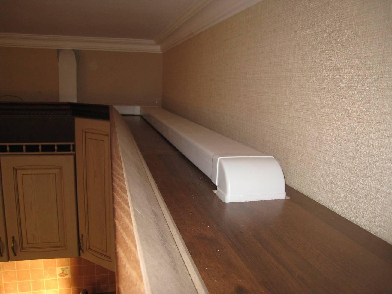 Короба для кухонной вытяжки: пластиковые, декоративные, металлические и изготовление своими руками