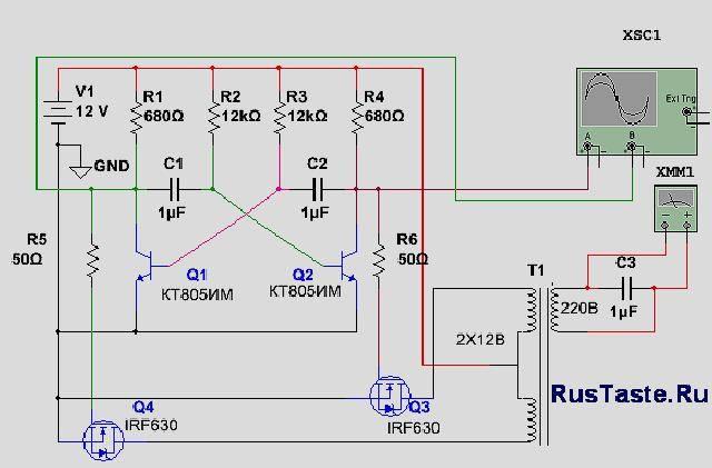 Преобразователь напряжения: виды устройств, простые схемы своими руками, электронный инвертор с 12 в на 220 в
