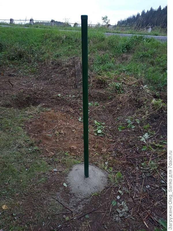 Установка столбов для забора без бетонирования - всё о воротах и заборе