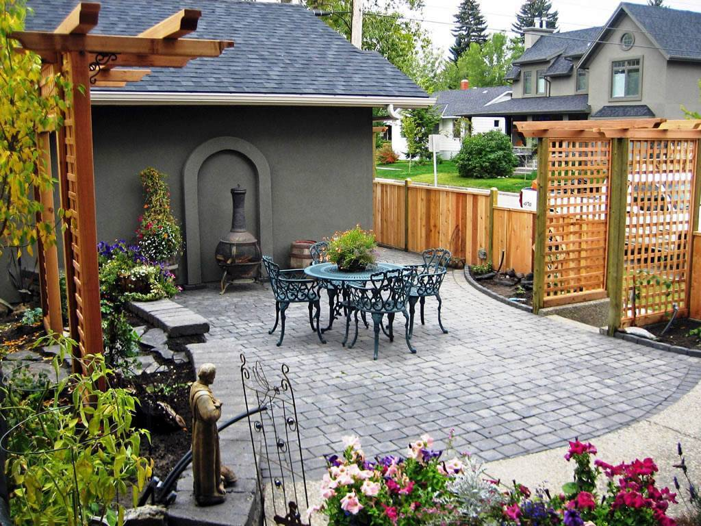 Ландшафтный дизайн двора частного дома (57 фото)