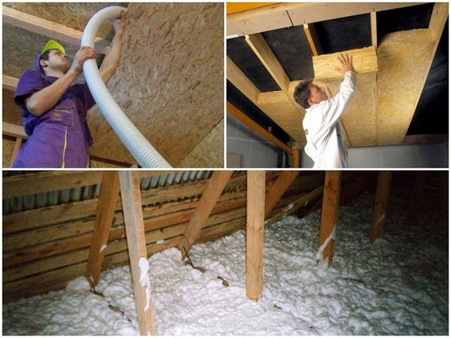 горячая банька. способы утепления потолка в бане. видео