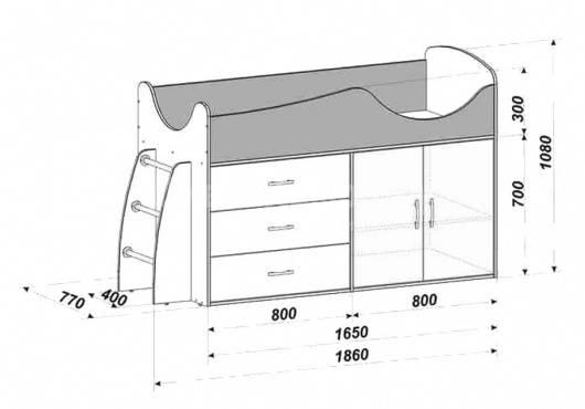 Кровать-чердак: чертежи, конструирование и обработка изделия