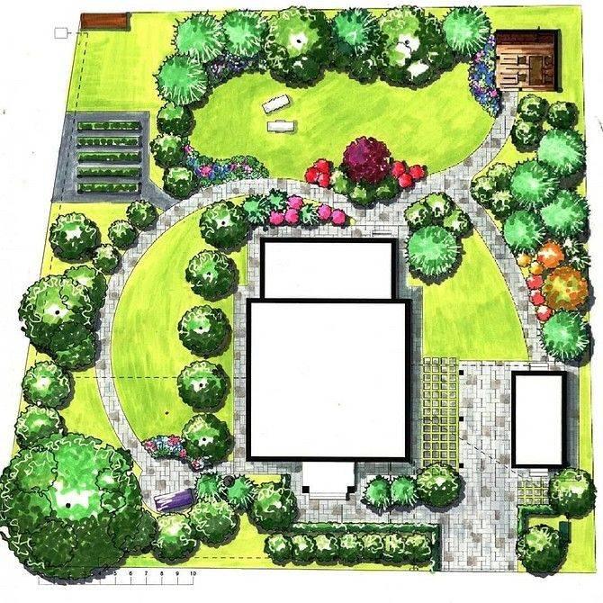 Участок 6 соток – планировка, схемы, дизайн, проекты и оформление современных участков