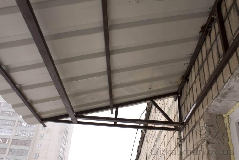 Крыша над балконом своими руками: как сделать ремонт и утепление